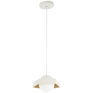 Roseau Leaf 1-Light Geometric Pendant