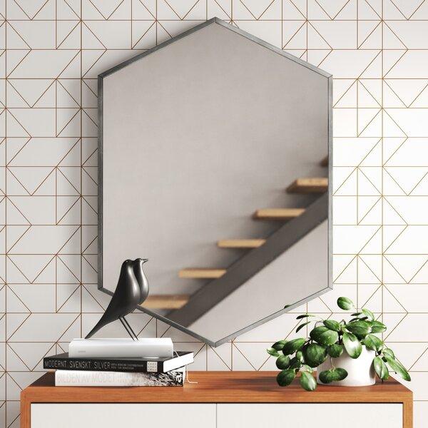 Modern Contemporary Silver Hexagon Mirrors Allmodern