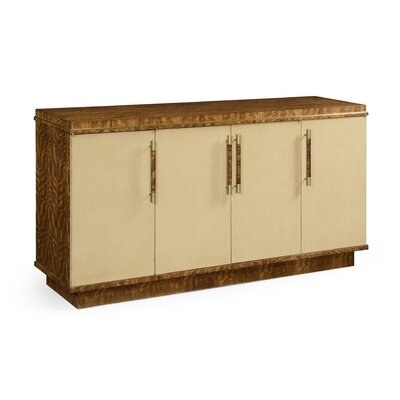 Jonathan Charles Fine Furniture Buffet Table with Drawers  Color: Ivory Homespun