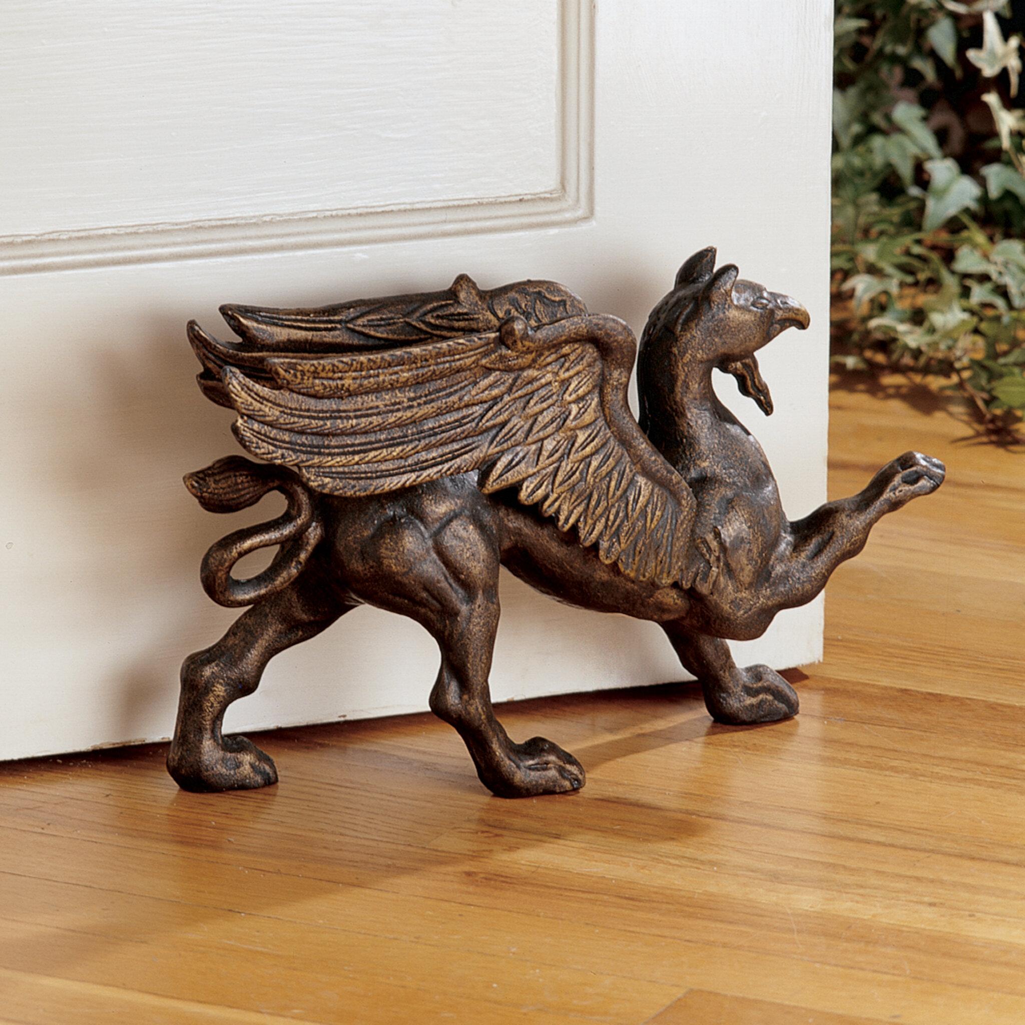 Design Toscano The Growling Griffin Foundry Doorstop Figurine Reviews Wayfair
