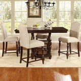 Basey Counter Height Solid Wood Dining Table by Darby Home Co