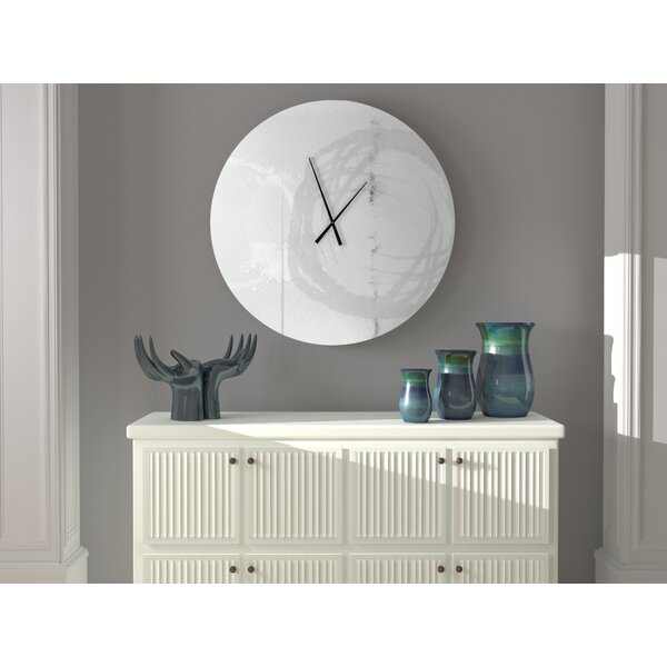 Latitude Run Welcomed Associated Abstract Metal Wall Clock Wayfair
