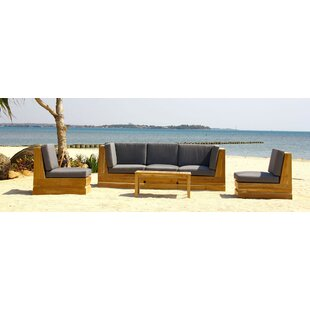 Seaside 5 Piece Teak Secti..