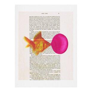 'Goldfish With Bubblegum' by Coco De Paris Graphic Art