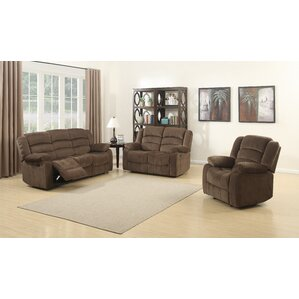 AC Pacific Bill 3 Piece Living Room Set