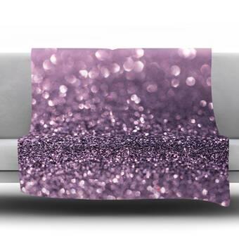 Kess InHouse EBI Emporium Into to The Night Green Purple Lime Lavender Throw 80 x 60 Fleece Blanket