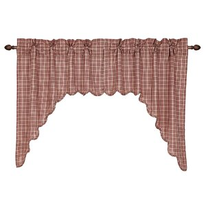 Adell Scalloped Swag Curtain Valance (Set of 2)