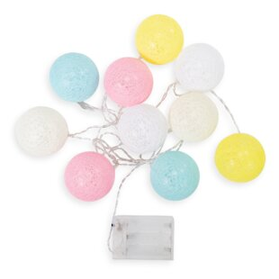 Tayla LED Colorful Globe Balls String Fairy Light 10 Light Novelty String Lights