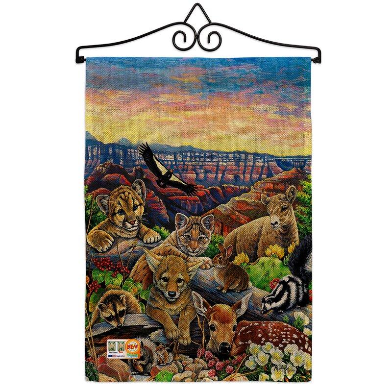Breeze Decor Canyon Friends Burlap Nature Wildlife Impressions Decorative 2 Sided Polyester 1 5 X 1 1 Ft Garden Flag Wayfair