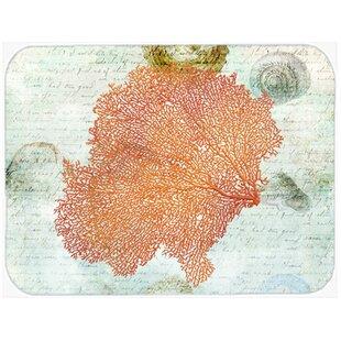 Coral Glass Cutting Board ByEast Urban Home
