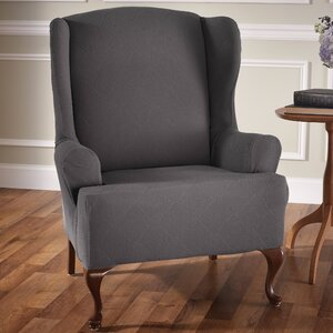 Madden Stretch T-Cushion Wingback Slipcover