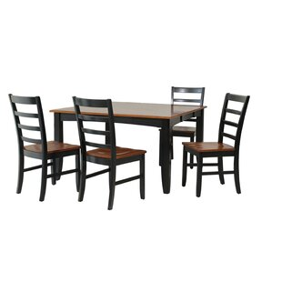 Venizelos 5 Piece Solid Wood Dining Set b..
