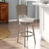 Kinsey Bar & Counter Swivel Stool by Rosecliff Heights