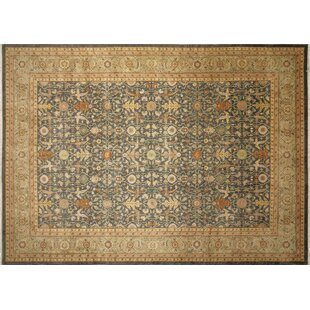 One-of-a-Kind Romona Hand-Knotted Green/Beige Indoor Area Rug ByIsabelline