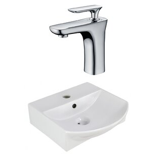 Best Ceramic U-Shaped Bathroom Sink with Faucet and Overflow By American Imaginations