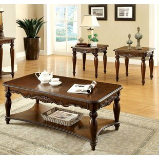 Tryphosa 3 Piece Coffee Table Set