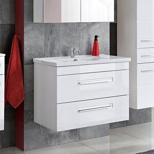 Belfry Bathroom 80 cm Wandmontierter Waschtischunterschrank Wahiba
