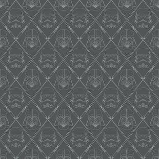 """Hessler Star Wars 16.5' L x 20.5"""" W Geometric Peel and Stick Wallpaper Roll"""