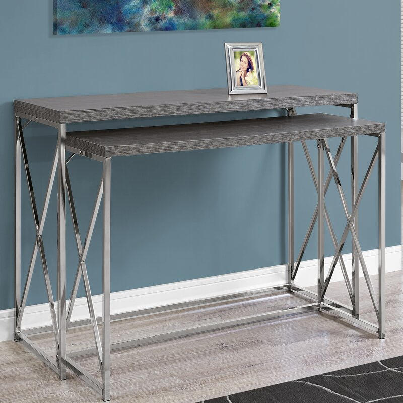 Monarch Specialties Inc. 2 Piece Console Table Set & Reviews | Wayfair