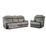 Cuyler Reclining 2 Piece Leather Living Room Set by Darby Home Co
