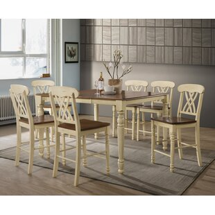 Leedom 7 Piece Counter Height Extendable Dining Set