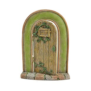 Miniature Garden Believe Fairy Door Statue (Set of 2) by Midwest Design Imports