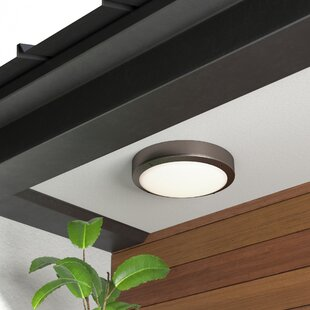 Find the perfect Zenfield 1-Light Outdoor Flush Mount By Latitude Run