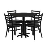 Ginnifer Round 5 Piece Dining Set by Winston Porter