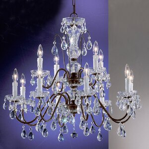 Letitia Traditional 12-Light Crystal Chandelier