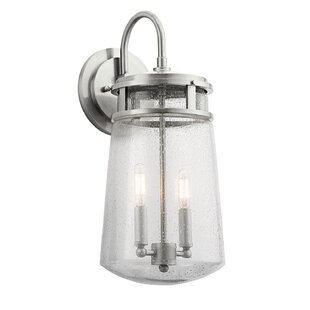 Tannis 2-Light Outdoor Wall Lantern by Breakwater Bay