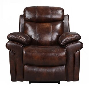 Purchase Asbury Leather Power Recliner by Red Barrel Studio Reviews (2019) & Buyer's Guide