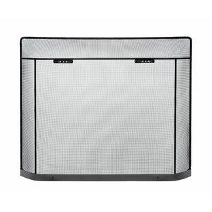 Daughtrey Single Panel Iron Fireplace Screen By Symple Stuff