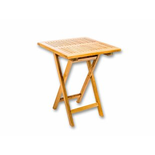 Wellston Folding Wooden Balcony Table By Brambly Cottage