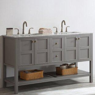 Caldwell 60 Double Bathroom Vanity Set by Beachcrest Home