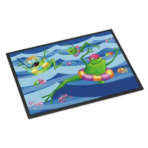 Frogs Swimming Doormat