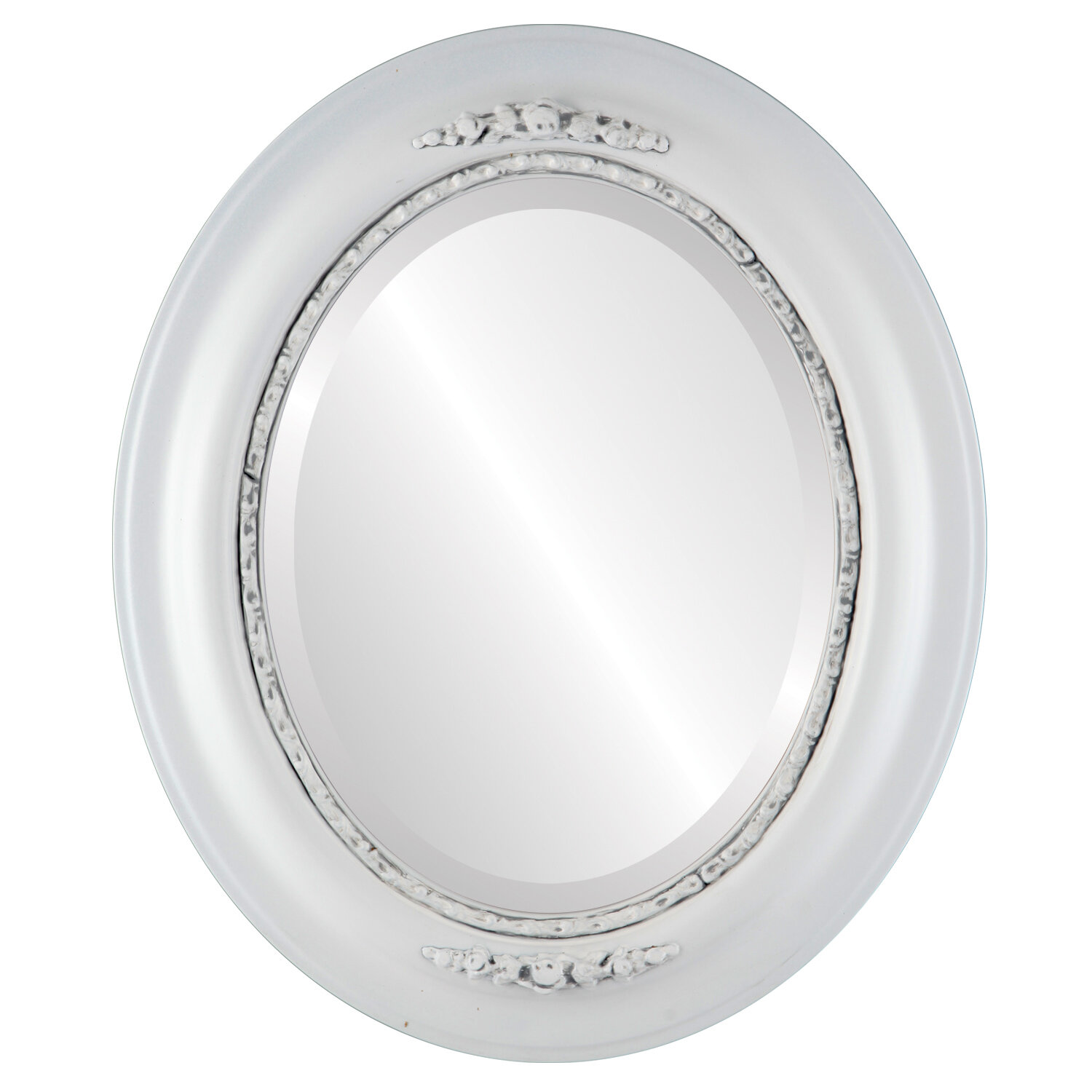 Charlton Home Wisbech Oval Cottage Beveled Accent Mirror Wayfair