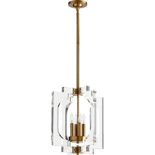 Pavan 4-Light Geometric Chandelier by Everly Quinn