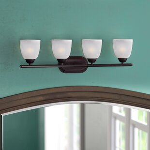 Find for Hayden 4-Light Frosted Vanity Light By Andover Mills