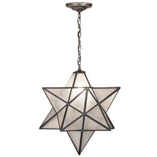 Star pendant light wayfair 1 light star pendant aloadofball Images