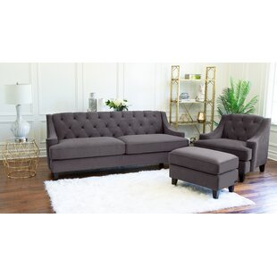Best Reviews Arwood 3 Piece Living Room Set by House of Hampton Reviews (2019) & Buyer's Guide