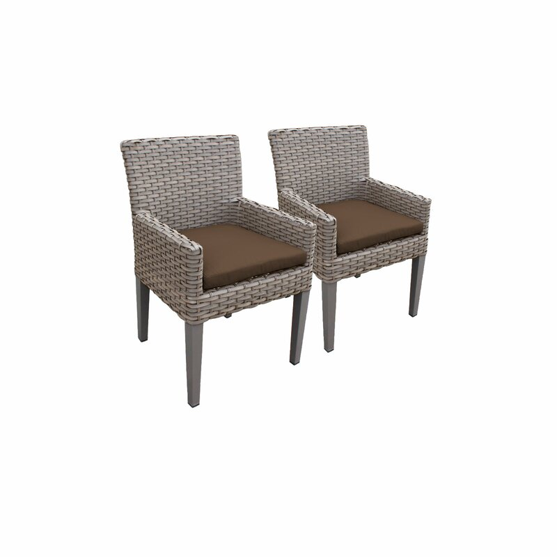 Sol 72 Outdoor  Rockport Patio Dining Chair with Cushion Cushion Color: Cocoa