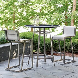 Del Mar 3 Piece Adjustable Table Bistro Set