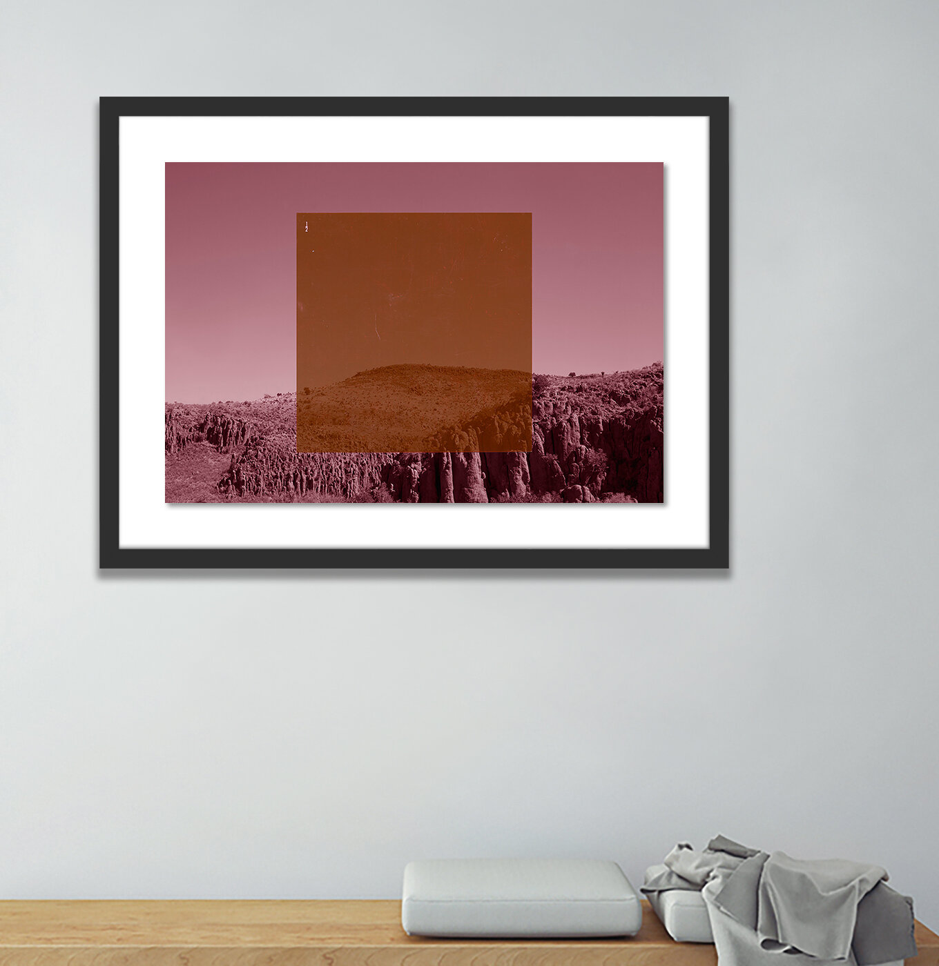 Orange On Pink By Riley Ryan Wood Picture Frame Graphic Art Print On Paper Allmodern