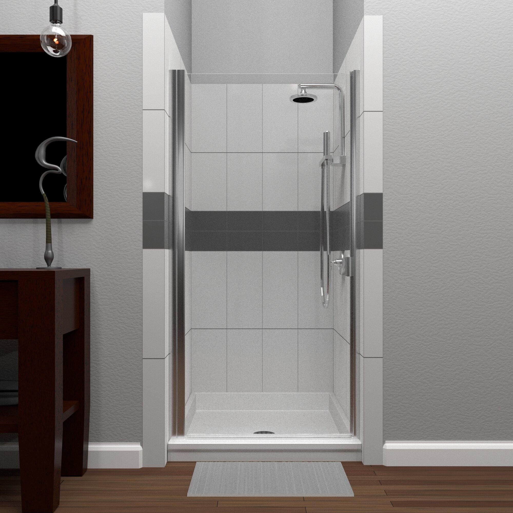 Rd Swinging 32 X 64 Hinged Semi Frameless Shower Door