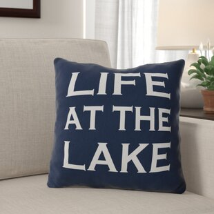 Dominic Life at the Lake Throw Pillow