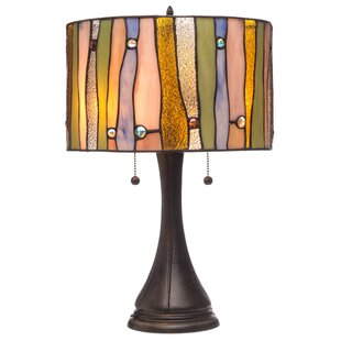 Best Reviews Erving 22 Glass Shade Table Lamp By Bloomsbury Market