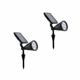 ALEKO Solar Powered 4 Light LED Pathway Light (Set of 2)