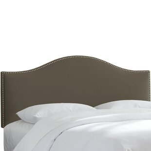 Brighton Nail Button Arc Upholstered Panel Headboard