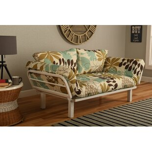 Ebern Designs Everett Convertible Lounger Garden Futon and Mattress