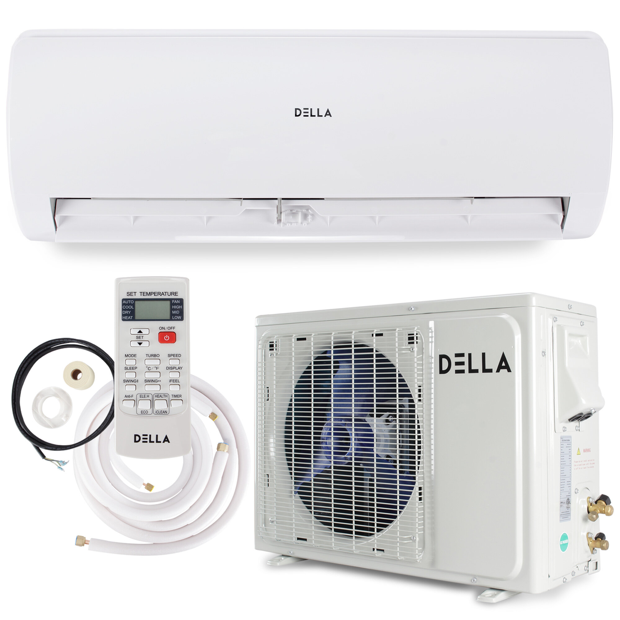 Della 17 Seer Inverter System 18 000 Btu Ductless Mini Split Air Conditioner With Heater And Remote Reviews Wayfair